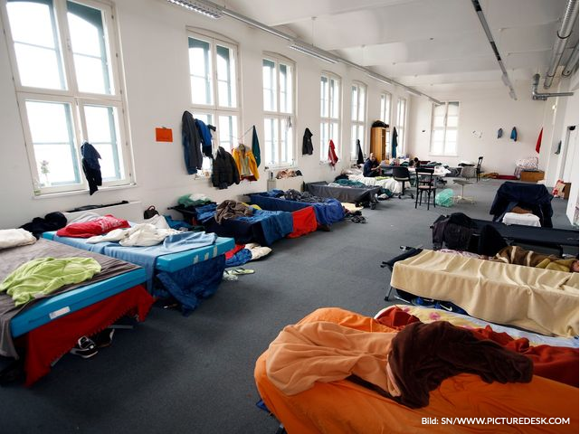 Ein Flüchtlingshaus in Wien-Döbling.